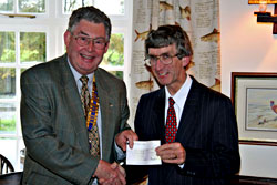 Cheque for Children's Hospice South West