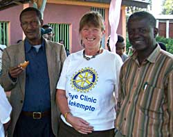Frances at the eye clinic in Ethiopia