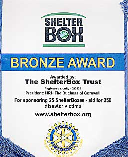 Shelterbox Bronze Award