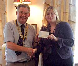 A cheque for Diabetes UK