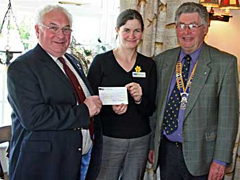 Cheque donation to Marie Curie Cancer Care
