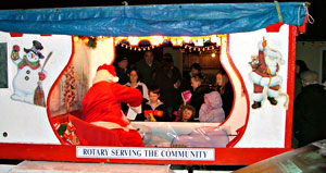Santa visits Brushford