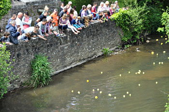 Duck Race at Bampton Spring Fest