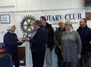 Rotary Exmoor Challenge shield presentation