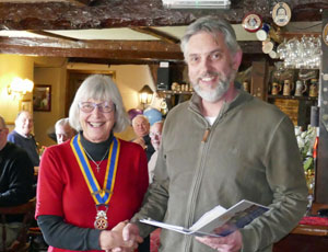 Tim being inducted into Exmoor Rotary