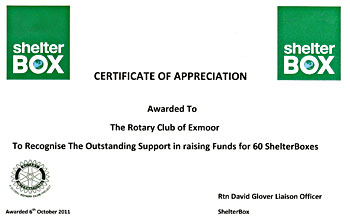 Shelterbox Certificate - 60